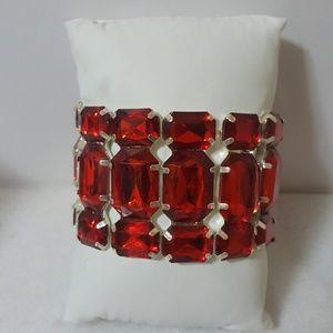 Red Faux Gem Bracelet